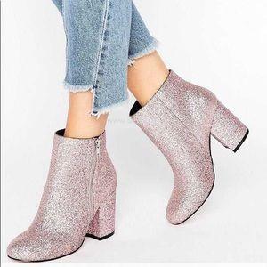 ASOS Regan Wide Fit Kitten Heel Ankle Boots